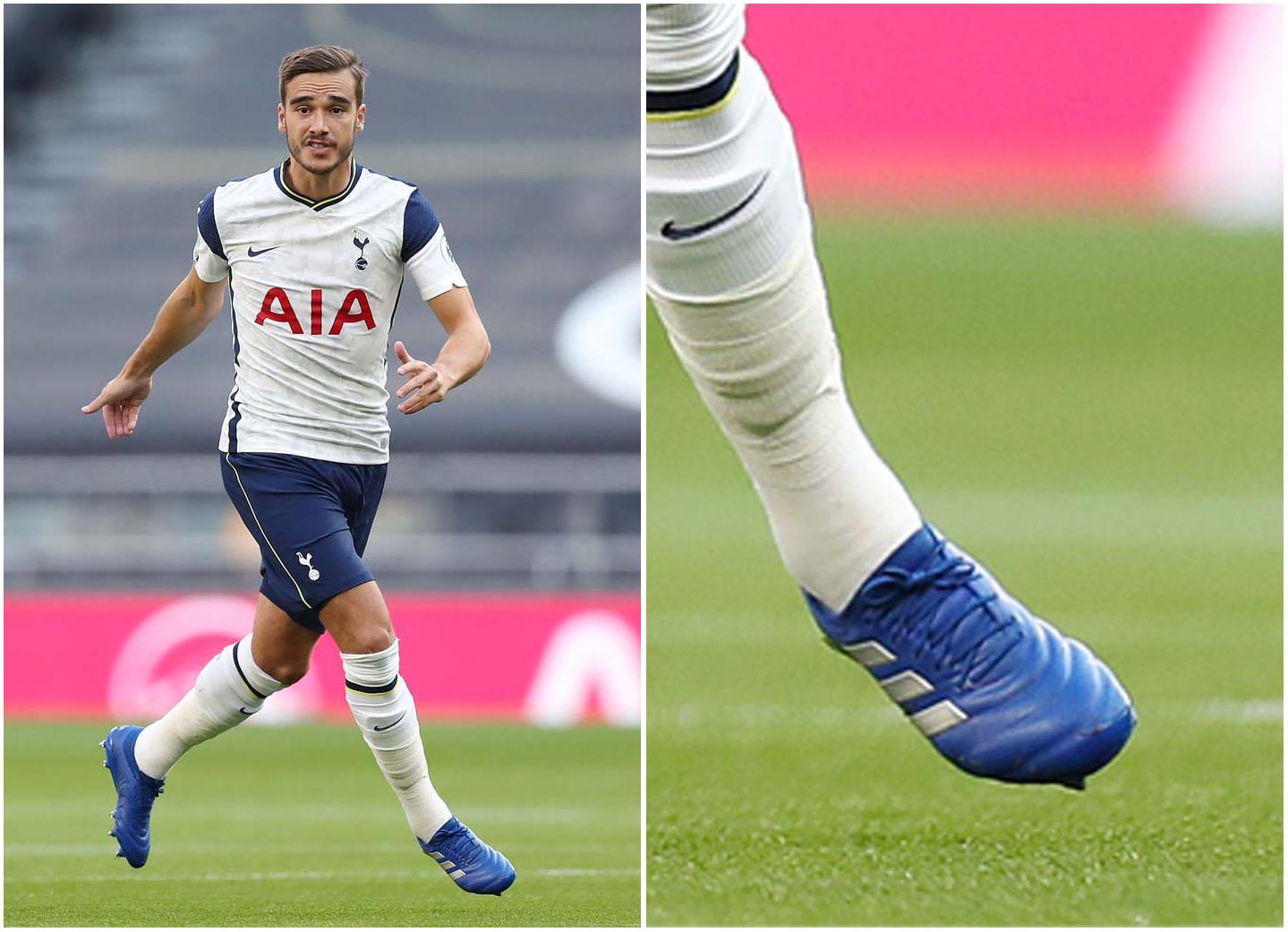 Harry Winks sử dụng Adidas Copa 19.1 FG xanh dương da thật vào tuần qua