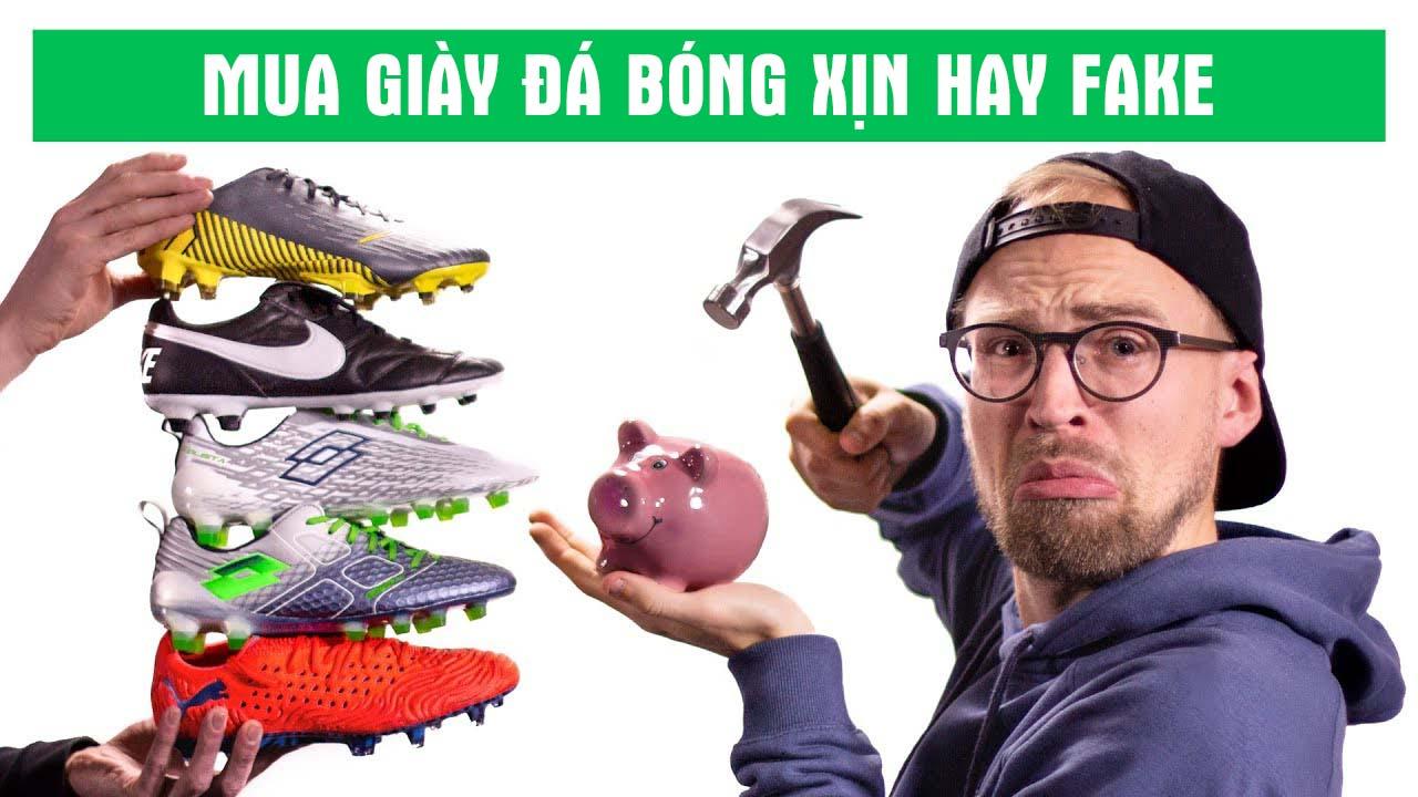 Ở Việt Nam các mặt hàng như giày đá bóng, giày thể thao thường có cả bản Authentic và Fake