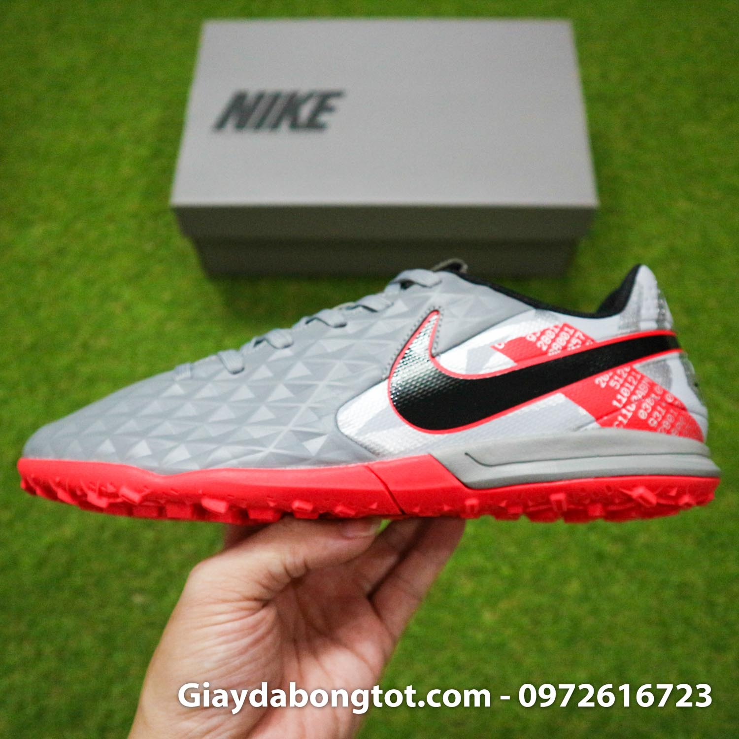 Nike tiempo legend 8 pro tf xam do vach den super fake (10)