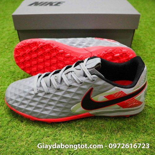 Nike tiempo legend 8 pro tf xam do vach den super fake (3)