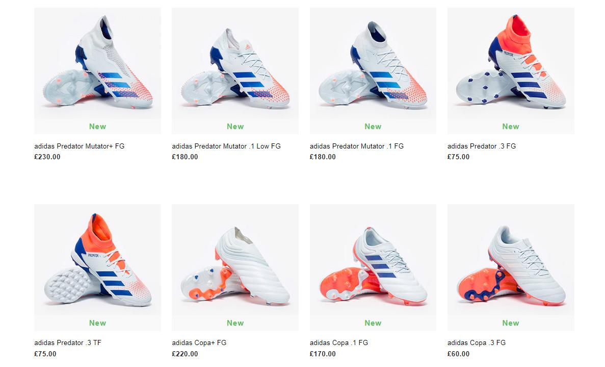 Tên gọi các mẫu giày bóng đá Adidas thế hệ mới đã bị thay đổi