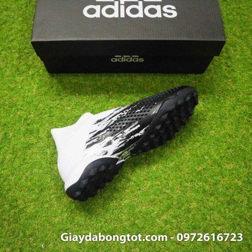 Giay da banh khong day adidas predator 20+ tf den trang gai nhon (11)