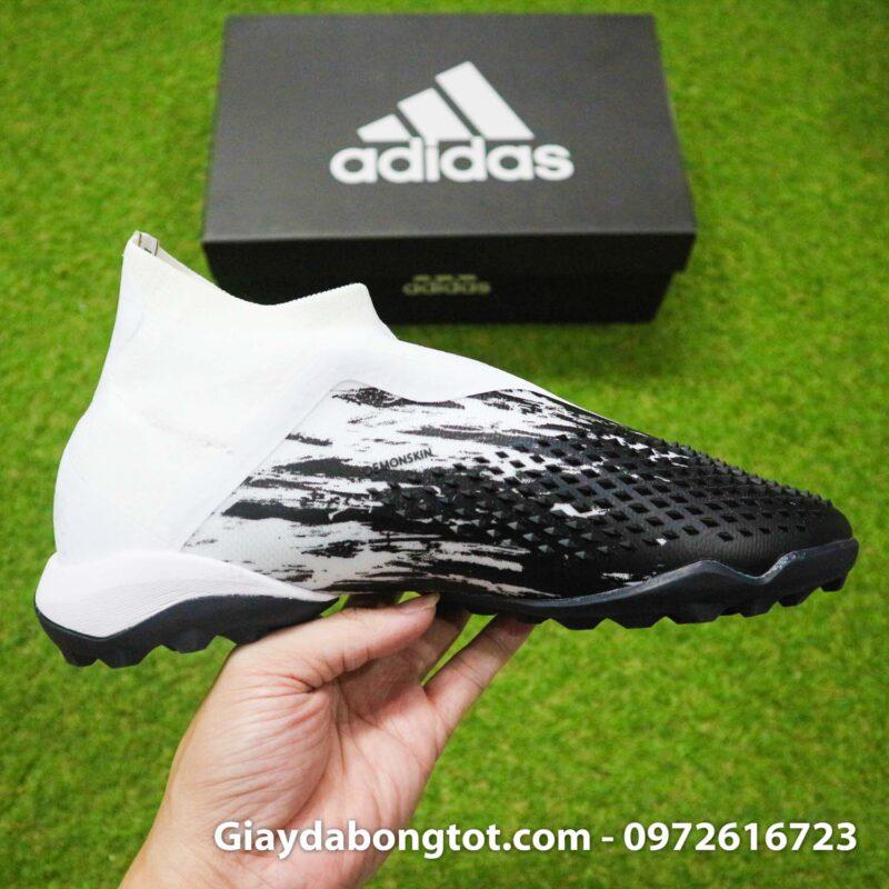 Giay da banh khong day adidas predator 20+ tf den trang gai nhon (13)
