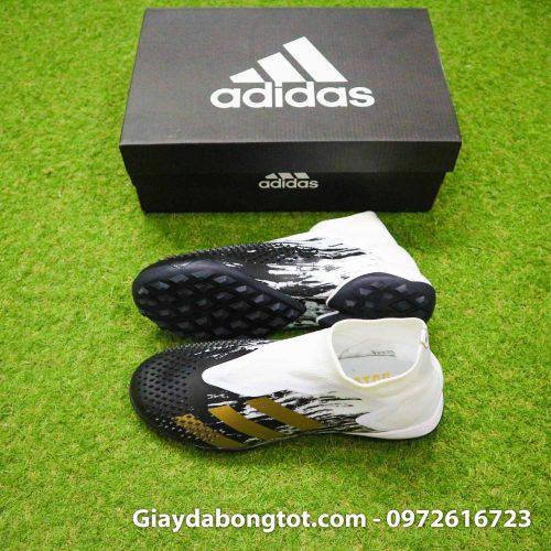 Giay da banh khong day adidas predator 20+ tf den trang gai nhon (2)