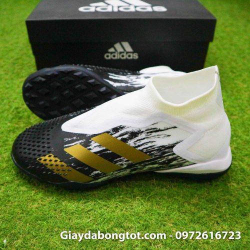 Giay da banh khong day adidas predator 20+ tf den trang gai nhon (3)