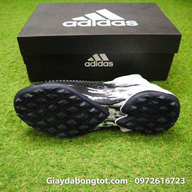 Giay da banh khong day adidas predator 20+ tf den trang gai nhon (4)