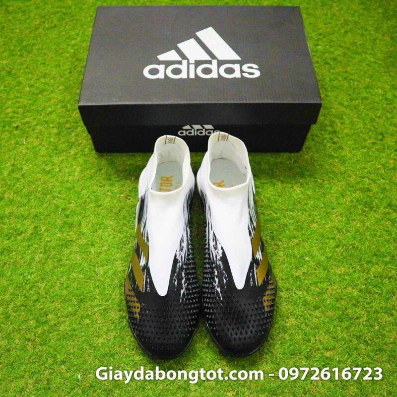 Giay da banh khong day adidas predator 20+ tf den trang gai nhon (8)