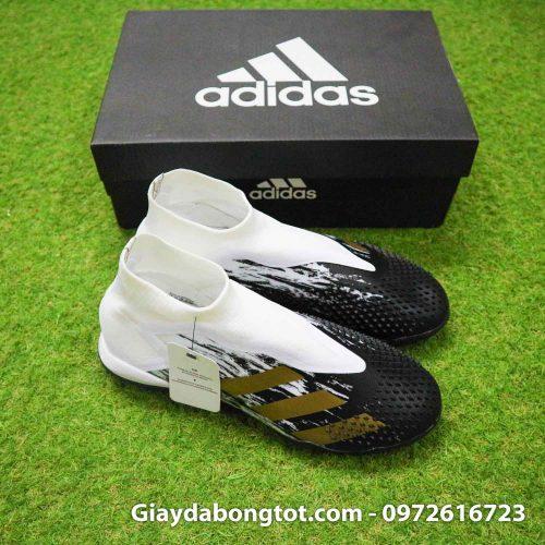 Giay da banh khong day adidas predator 20+ tf den trang gai nhon (9)