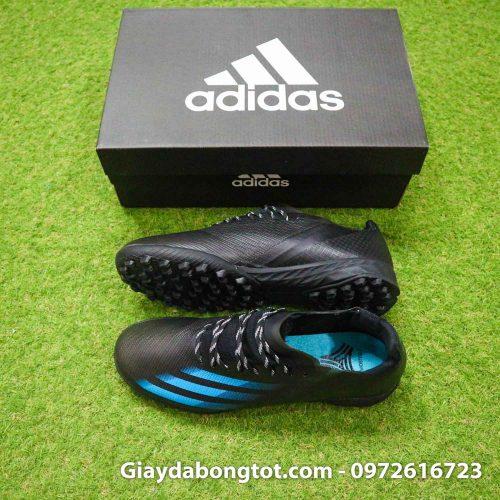 Adidas X Ghosted .1 TF đen vạch xanh | Da mỏng siêu nhẹ