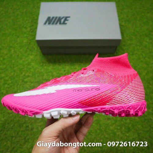 Nike mercurial superfly 7 elite tf mbappe hong pink vach trang (13)