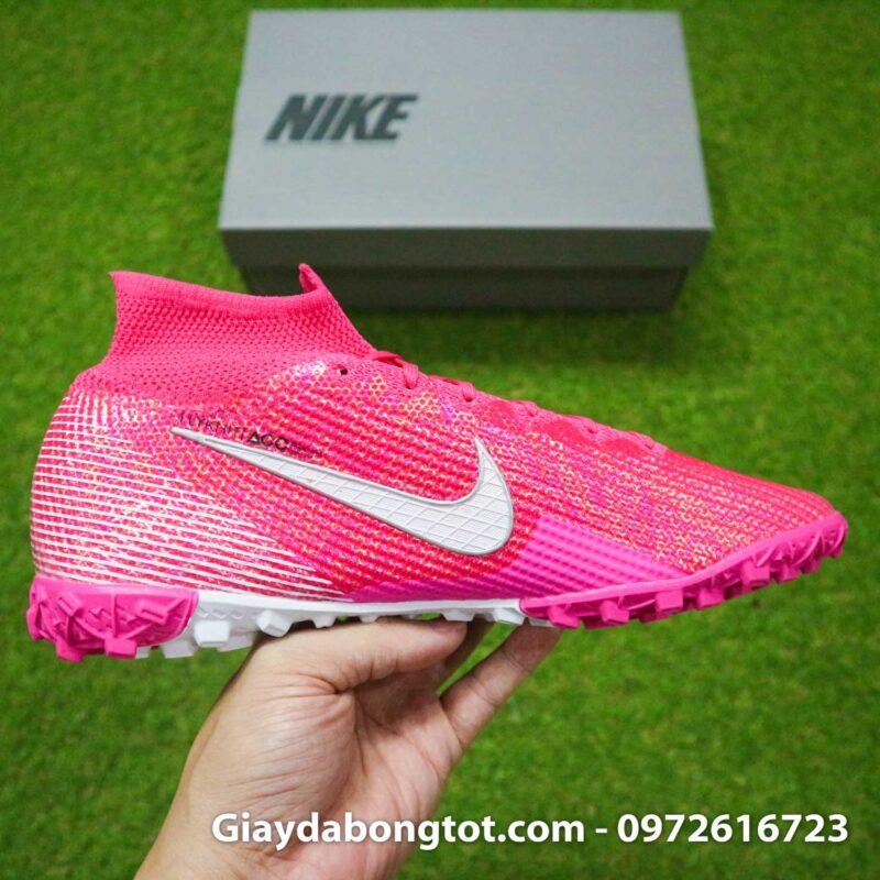 Nike mercurial superfly 7 elite tf mbappe hong pink vach trang (14)