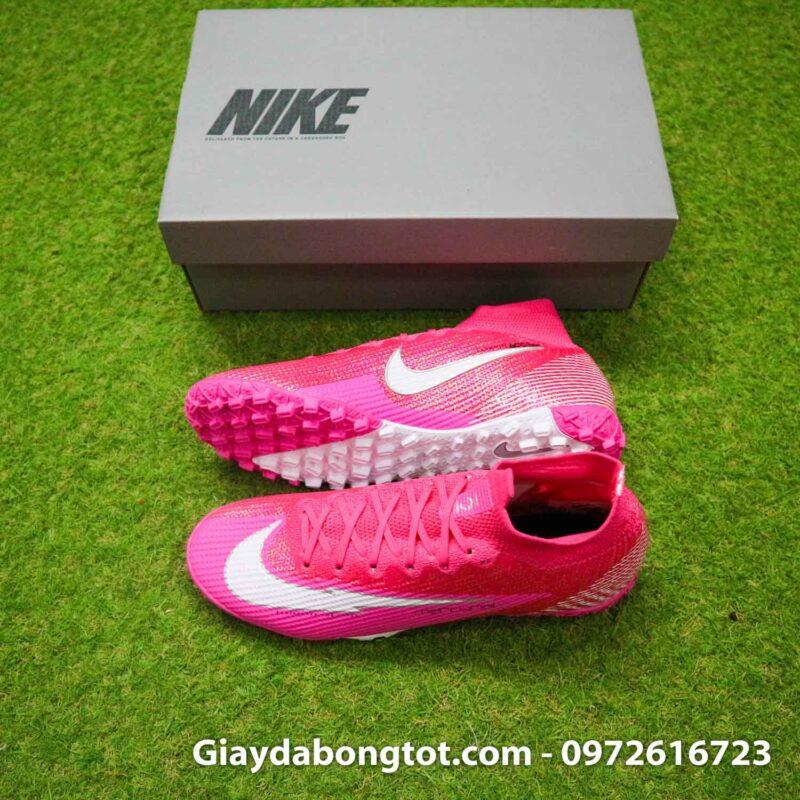 Nike mercurial superfly 7 elite tf mbappe hong pink vach trang (2)