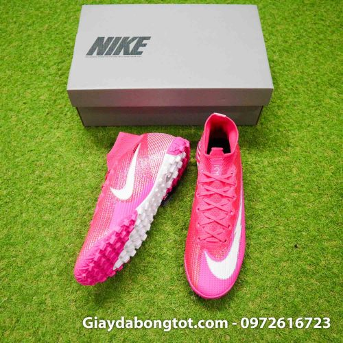 Nike mercurial superfly 7 elite tf mbappe hong pink vach trang (5)