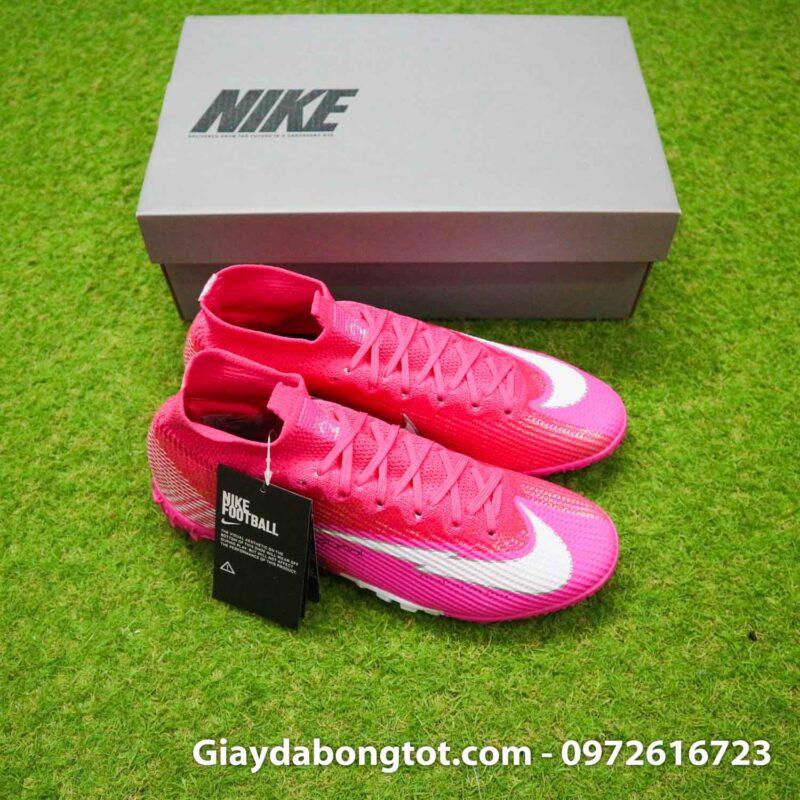 Nike mercurial superfly 7 elite tf mbappe hong pink vach trang (9)