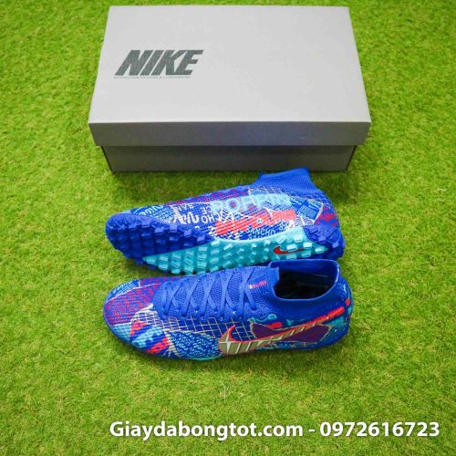 Nike mercurial superfly 7 elite tf xanh duong sancho se11 (2)