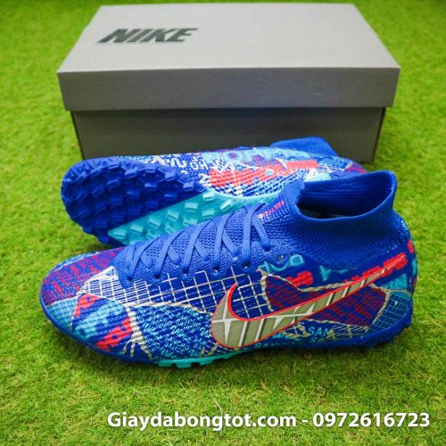 Nike mercurial superfly 7 elite tf xanh duong sancho se11 (3)