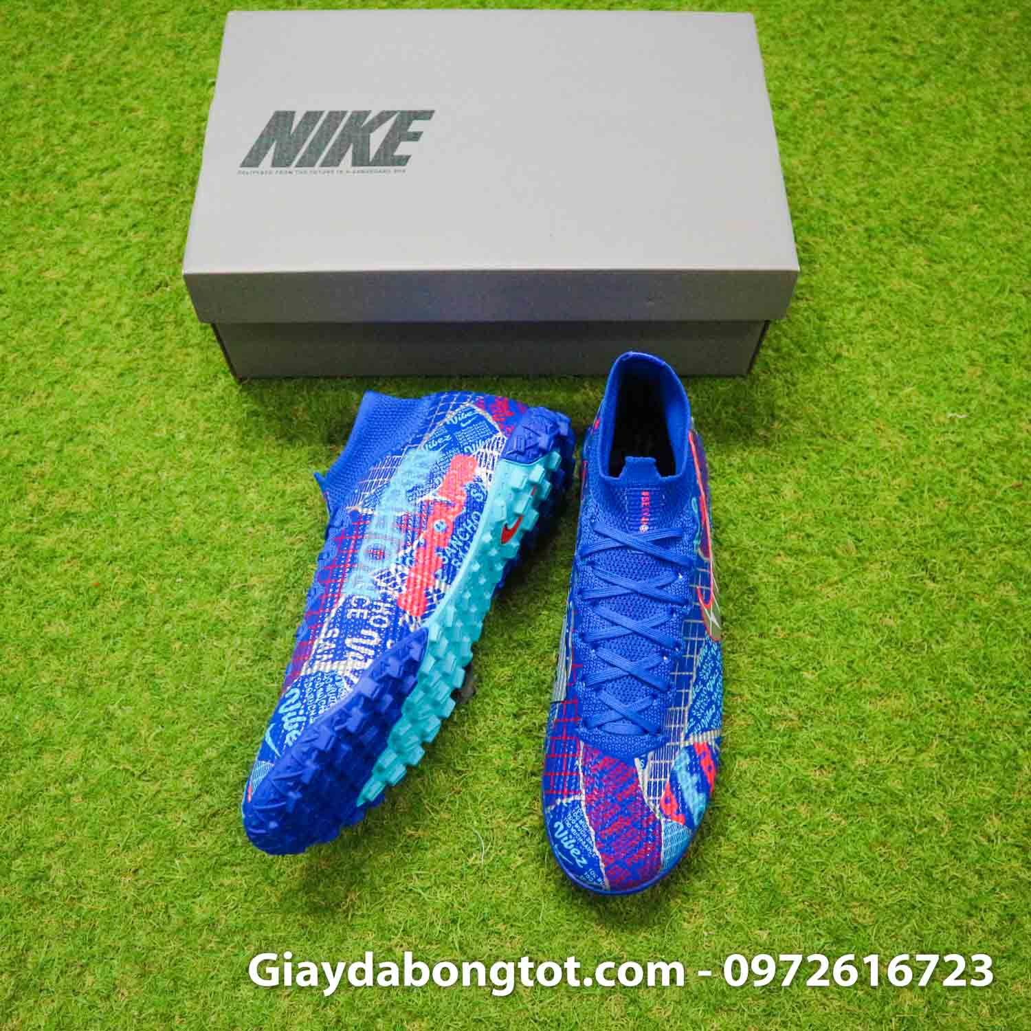 Nike mercurial superfly 7 elite tf xanh duong sancho se11 (5)