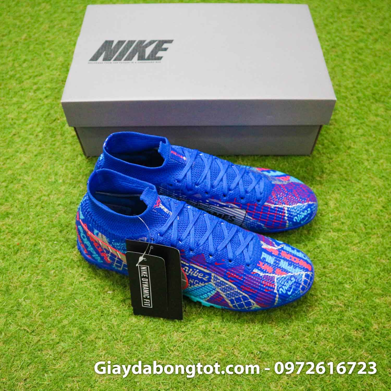 Nike mercurial superfly 7 elite tf xanh duong sancho se11 (9)