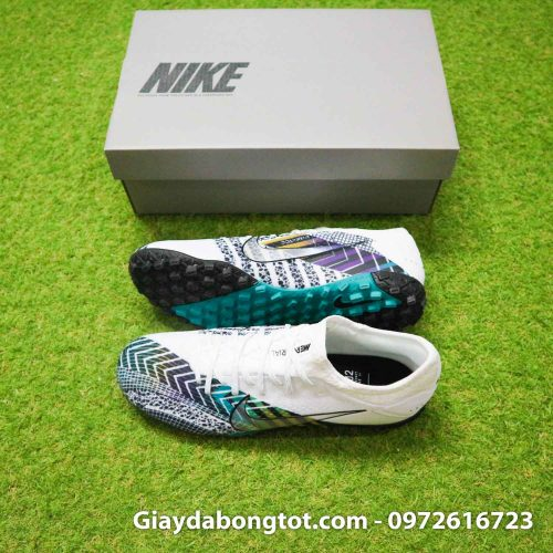 Giay da banh da vai nike mercurial vapor 13 pro tf dream speed 3 cr7 den trang (1)