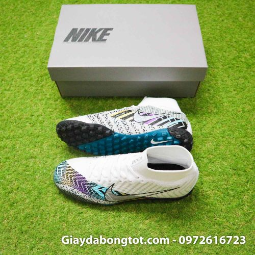 Giay da bong cao co nike mercurial superfly 7 elite tf dream speed 3 trang den (1)
