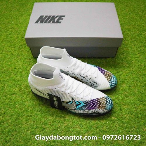 Giay da bong cao co nike mercurial superfly 7 elite tf dream speed 3 trang den (7)