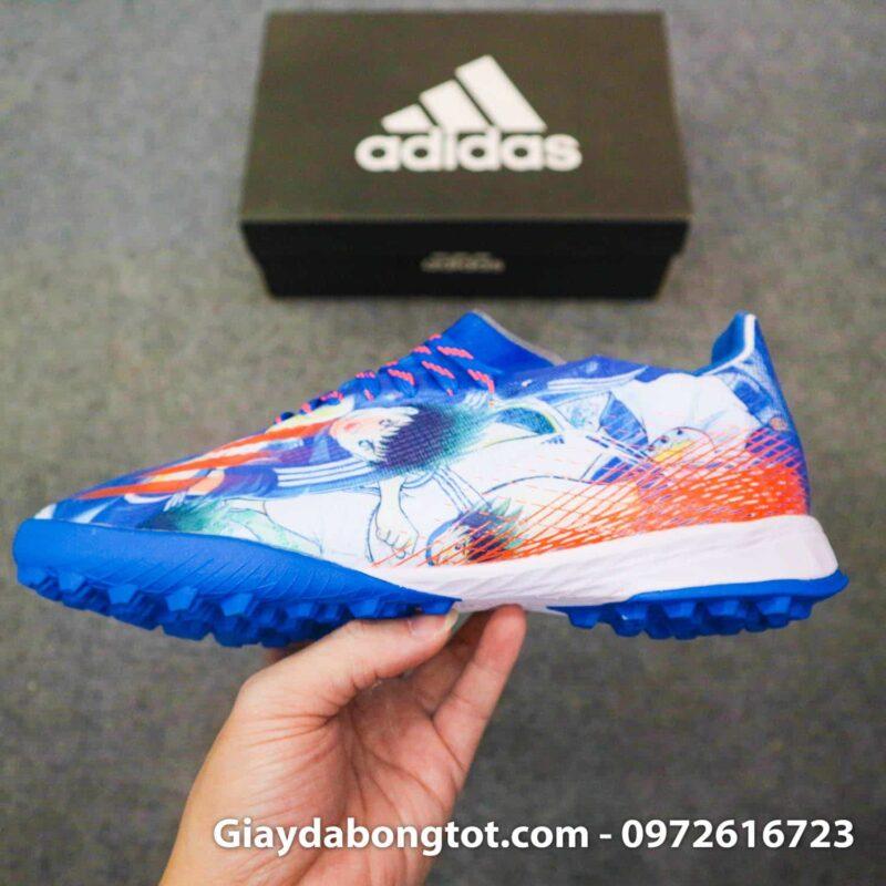 Giay Adidas X Ghosted. 1 tf tsubasa xanh duong trang (8)