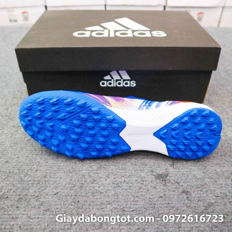 Giay da banh adidas x ghosted .3 tf xanh duong vach cam tsubasa (3)