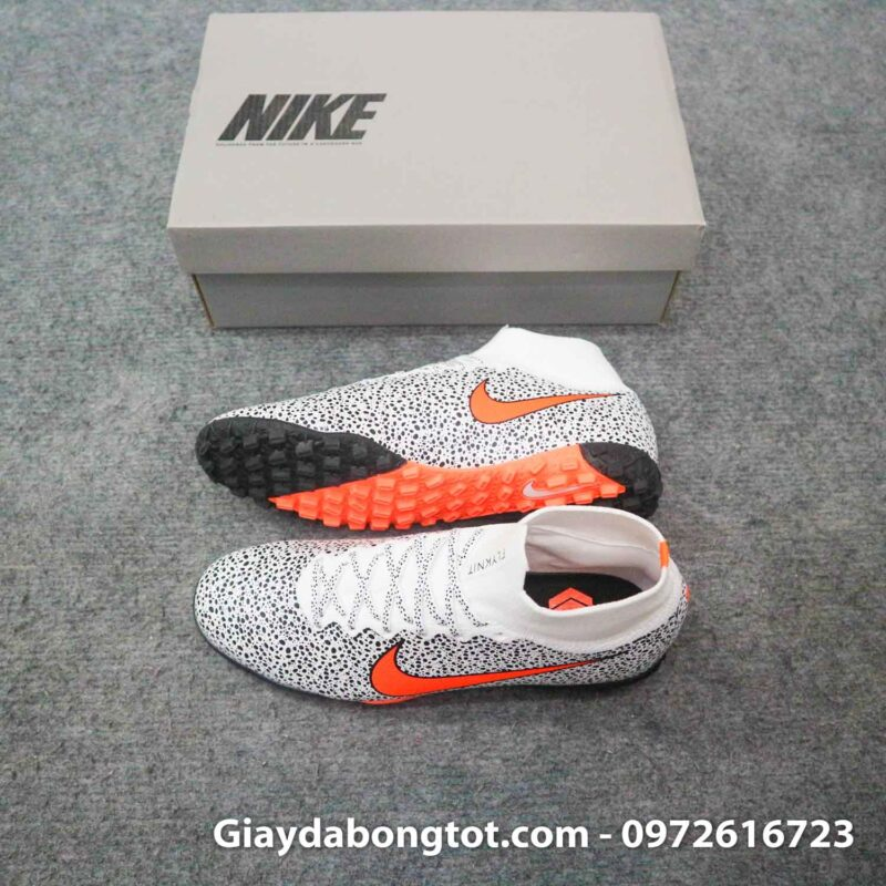 Giay da banh cao co nike mercurial superfly 7 elite tf cr7 safari trang den (1)