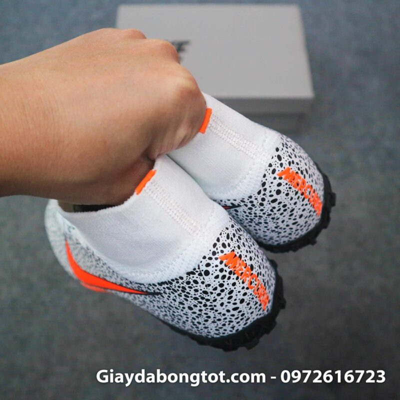 Giay da banh cao co nike mercurial superfly 7 elite tf cr7 safari trang den (13)