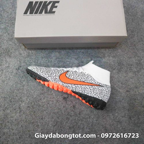 Giay da banh cao co nike mercurial superfly 7 elite tf cr7 safari trang den (14)