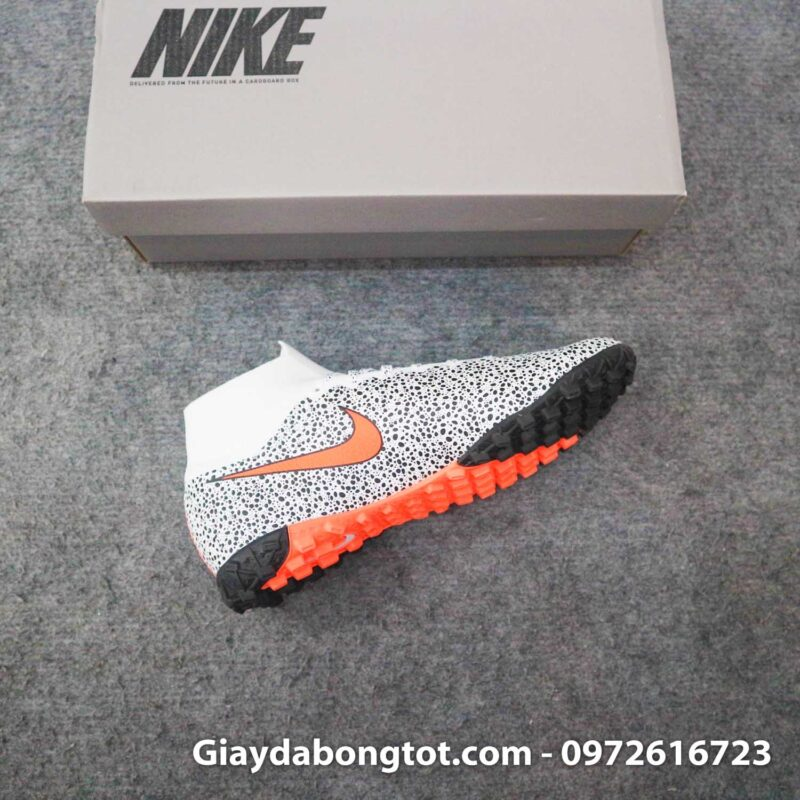 Giay da banh cao co nike mercurial superfly 7 elite tf cr7 safari trang den (15)