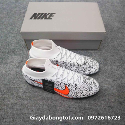 Giay da banh cao co nike mercurial superfly 7 elite tf cr7 safari trang den (4)