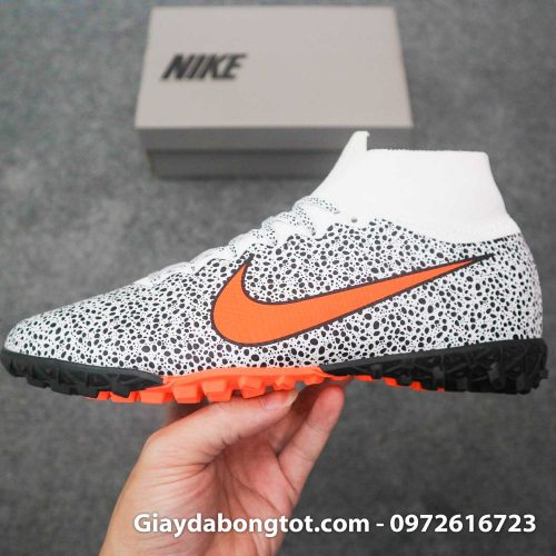 Giay da banh cao co nike mercurial superfly 7 elite tf cr7 safari trang den (7)