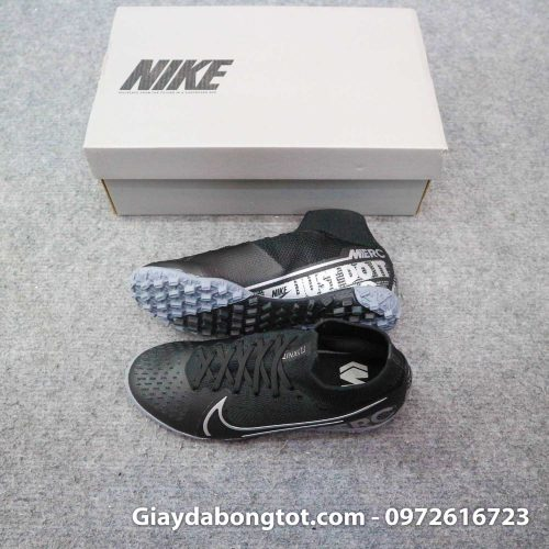 Giay da banh cao co nike mercurial superfly 7 elite tf den tre em (1)