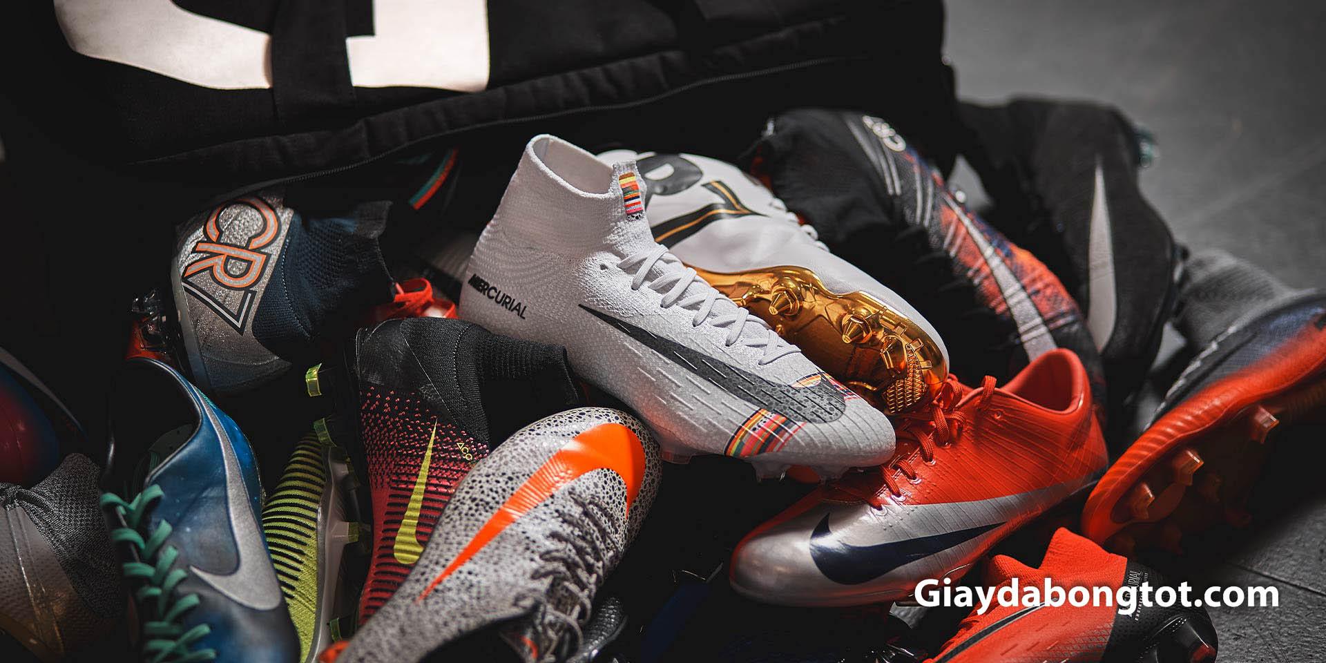Năm 2020 dòng giày Nike Mercurial ra mắt rất nhiều gam màu đẹp mắt.