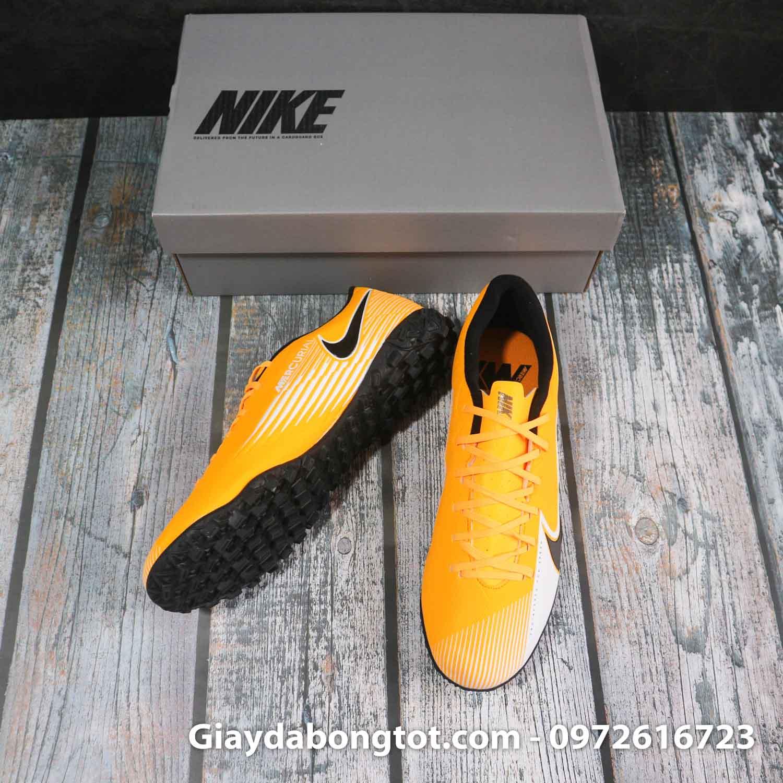 Nike mercurial vapor 13 academy tf vang trang vach den superfake (5)