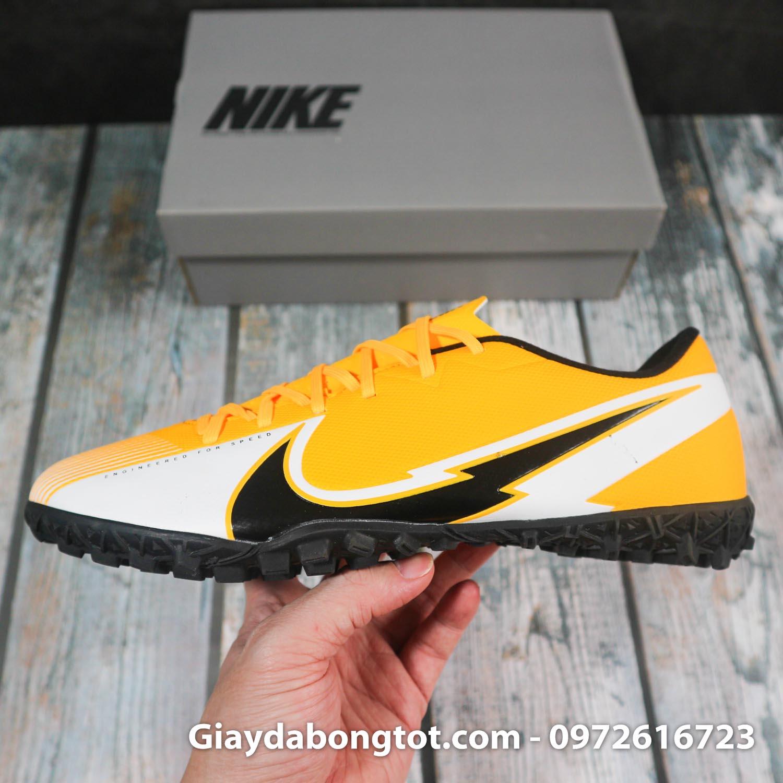 Nike mercurial vapor 13 academy tf vang trang vach den superfake (8)