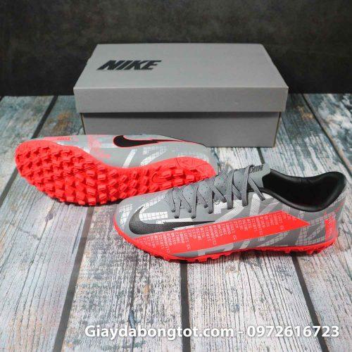 Nike Mercurial Vapor 13 Academy TF xám đỏ | Bản SF chuẩn