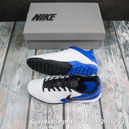 Nike tiempo legend x 8 pro tf trang xanh duong vach den superfake (3)