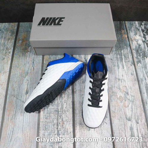 Nike tiempo legend x 8 pro tf trang xanh duong vach den superfake (5)
