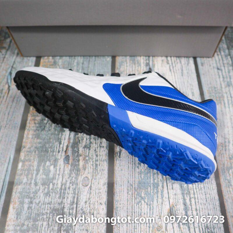 Nike tiempo legend x 8 pro tf trang xanh duong vach den superfake (9)