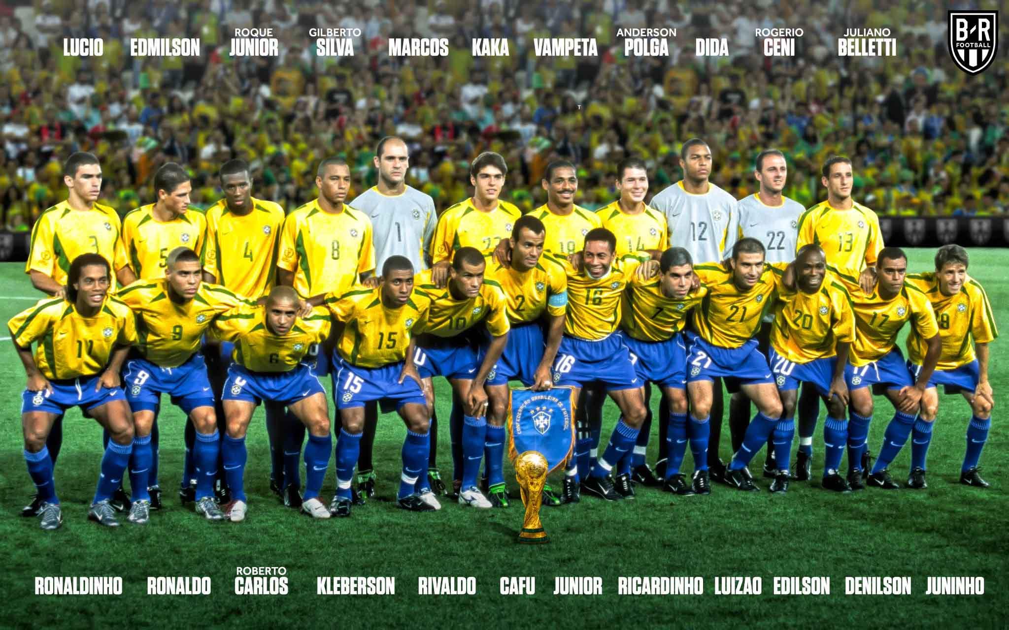 Doi hinh brazil vo dich worldcup 2002