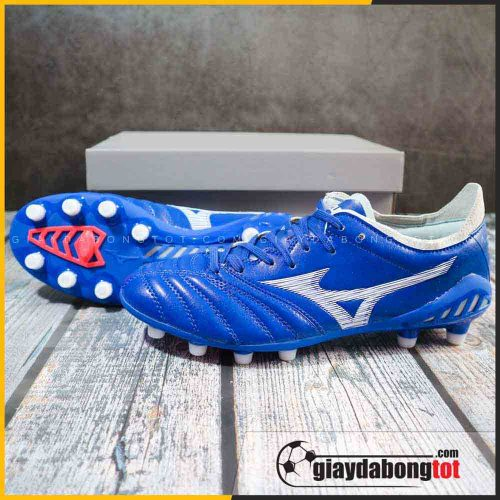 Giày đá banh Mizuno Neo 3 FG xanh dương vạch trắng