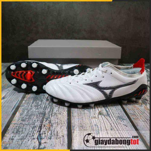 Giày đá bóng Mizuno Neo 3 FG trắng vạch đen | Da mềm