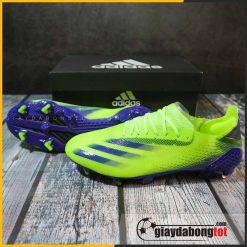 Giày siêu nhẹ Adidas X Ghosted .1 FG xanh chuối vạch tím