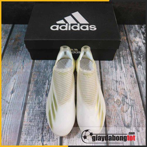 Giay da bong khong day adidas x ghosted + fg trang vach vang (1)