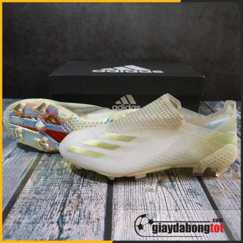 Giay da bong khong day adidas x ghosted + fg trang vach vang (2)