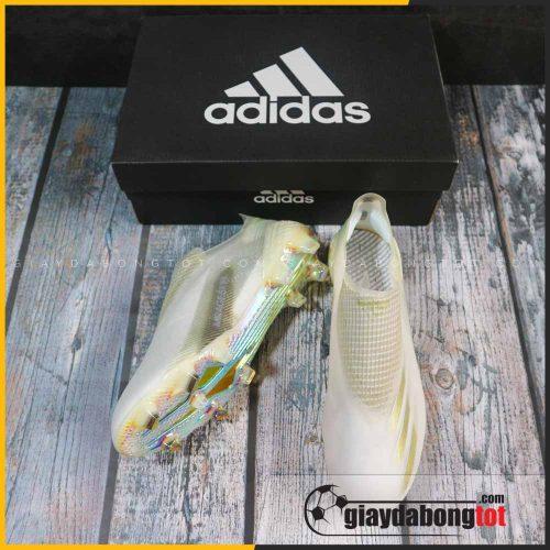 Giay da bong khong day adidas x ghosted + fg trang vach vang (4)