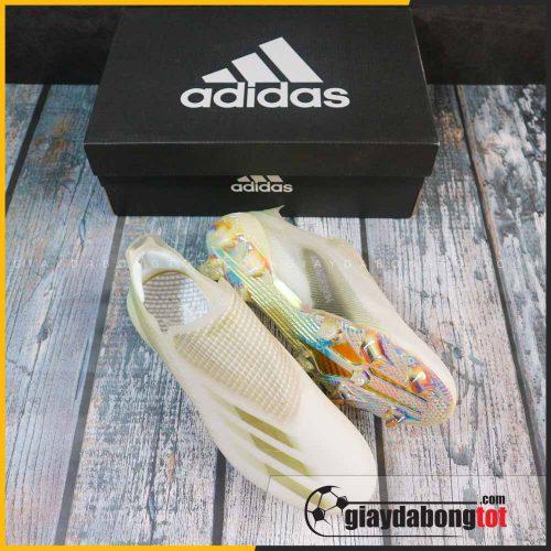 Giay da bong khong day adidas x ghosted + fg trang vach vang (8)