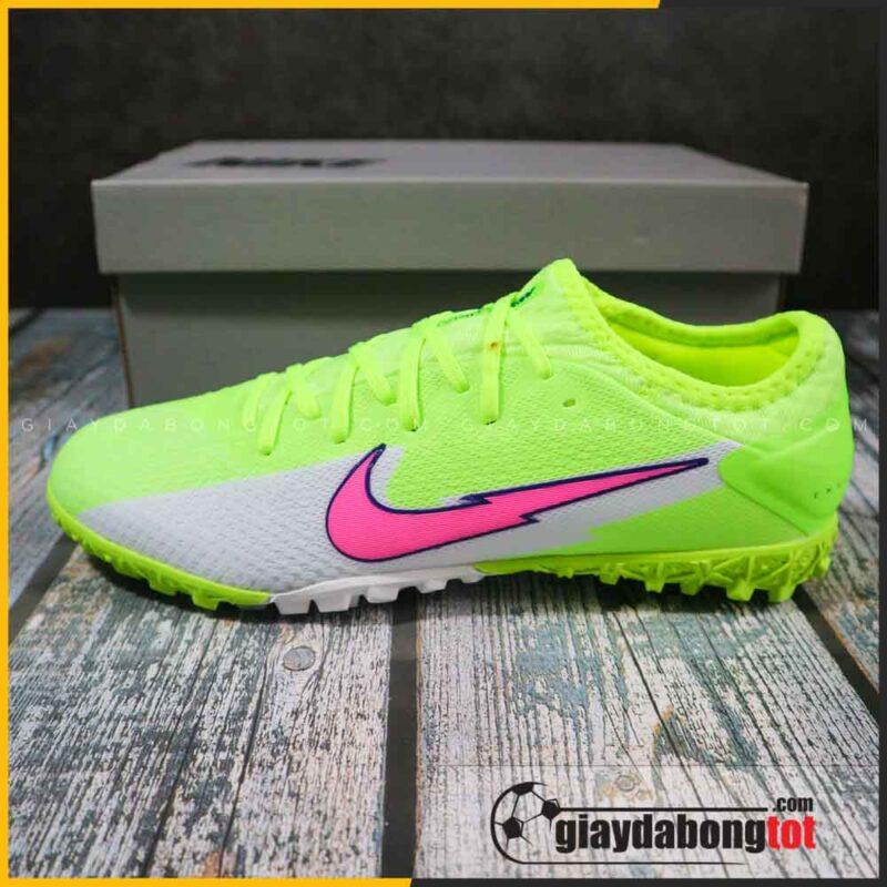Nike mercurial vapor 13 pro tf xanh chuoi vach hong (3)